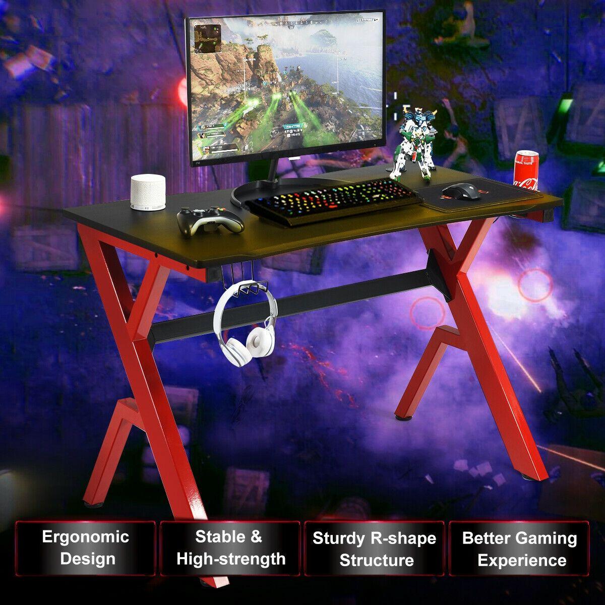 Headphone Mouse Pad & Cup Holder Storage Gaming Desk #gamingdesk