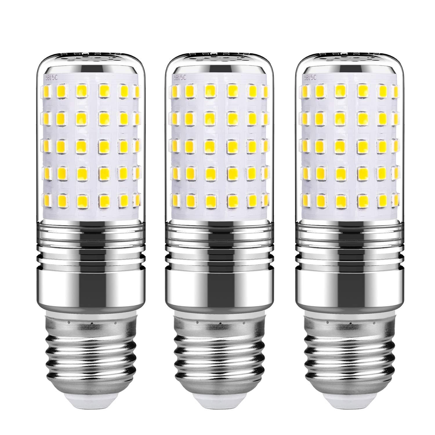Gezee 15w Led Cylindrical Bulb E26 Led Candelabra Light Bulbs 120 Watt Equivalent1500lm Daylight White 600 Led Chandelier Candelabra Light Led Candelabra Bulbs