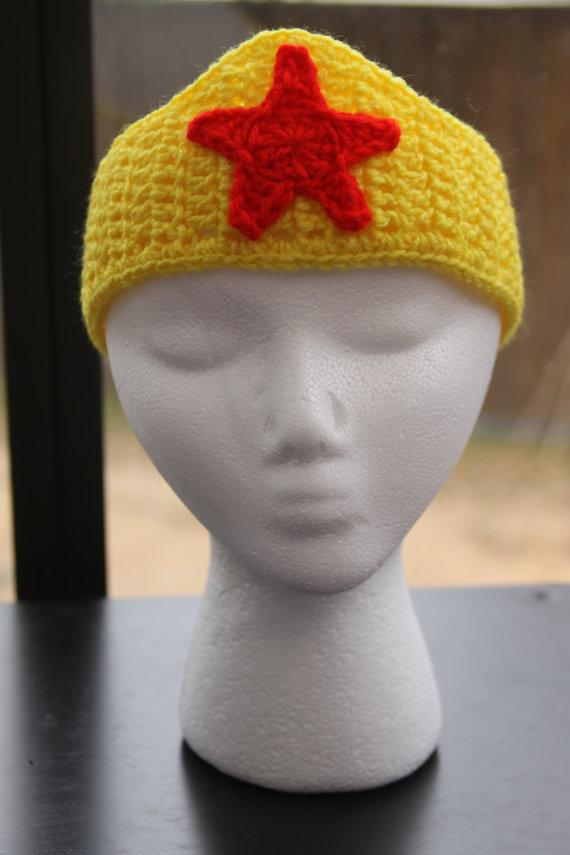 Wonder Woman Crown Ear Warmer Headband Ear Warmer