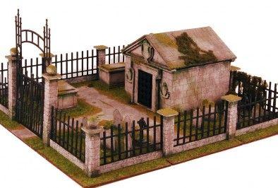 Sarissa Precision Visit A Spooky Crypt & Graveyard Terrain Set