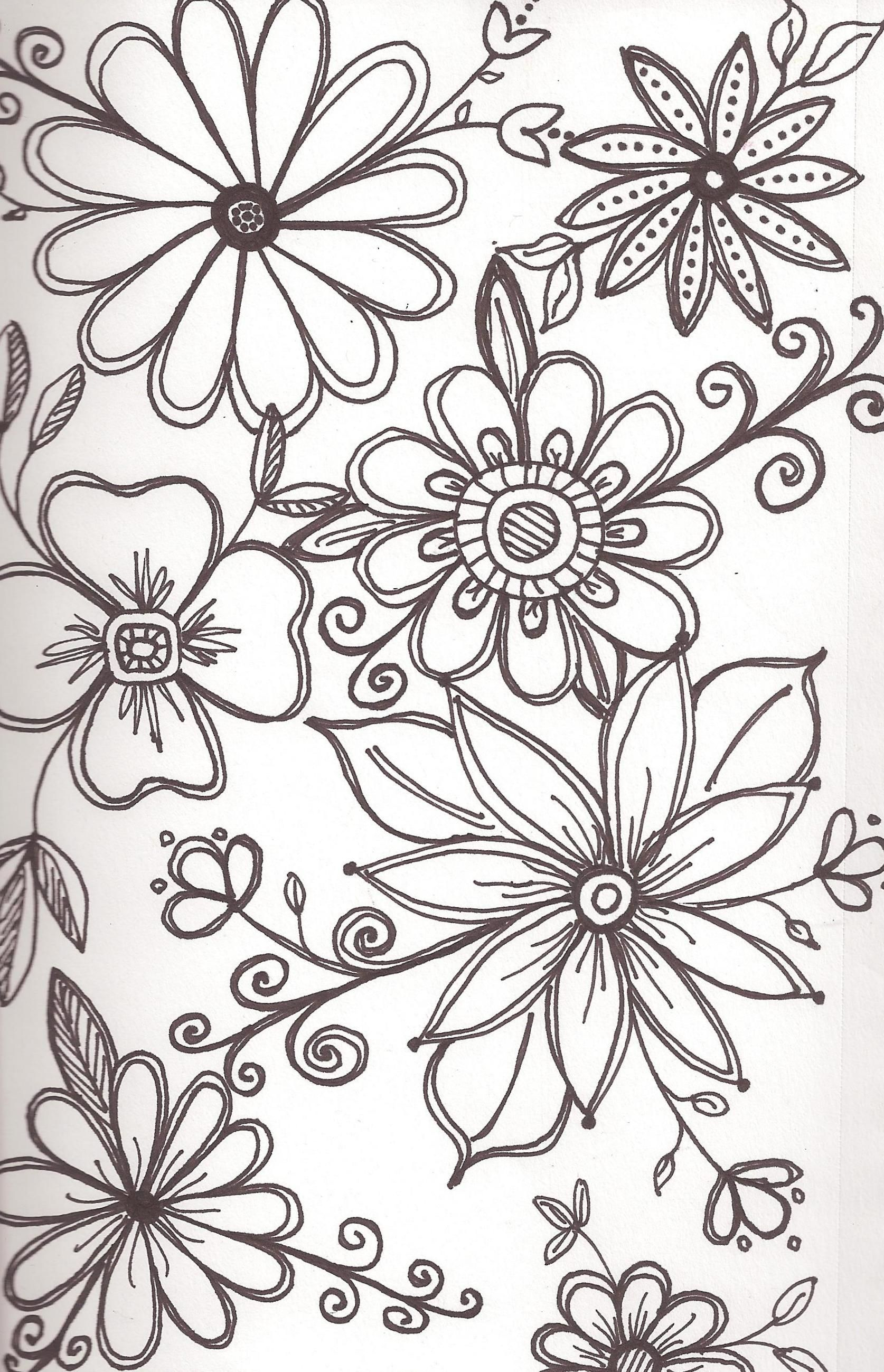 Line Drawing Flower Designs : Art enables us to find ourselves and lose at