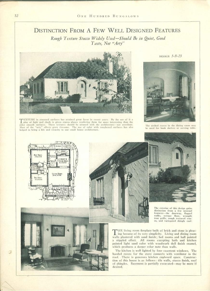 1927 100 bungalows of frame and masonry construction vintage