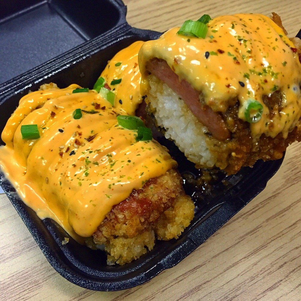 Deep fried spam musubi coated with panko chula vista ca