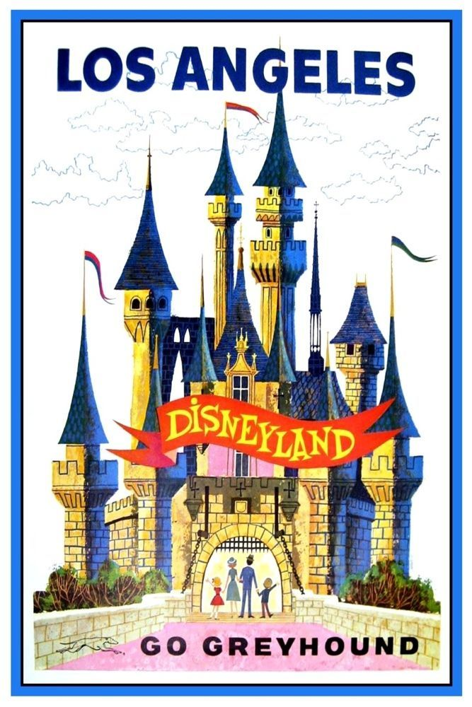 "VINTAGE DISNEY POSTER WALT DISNEY WORLD AD 8.5/"" x 11/"""