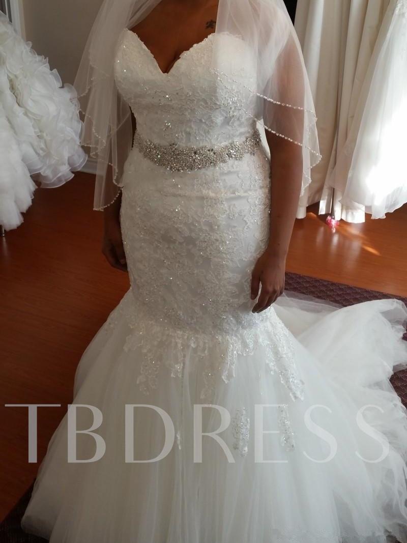 Sweetheart Appliques Beading Plus Size Mermaid Wedding Dress Dramatic Wedding Dress Mermaid Wedding Dress Boho Wedding Dress [ 1067 x 800 Pixel ]
