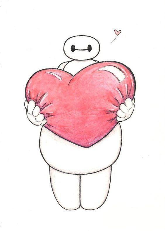 Kavajnye Kartinki Dlya Srisovki Karandashom Kartinki S Yumorom Valentine Drawing Baymax Drawing Disney Art Drawings