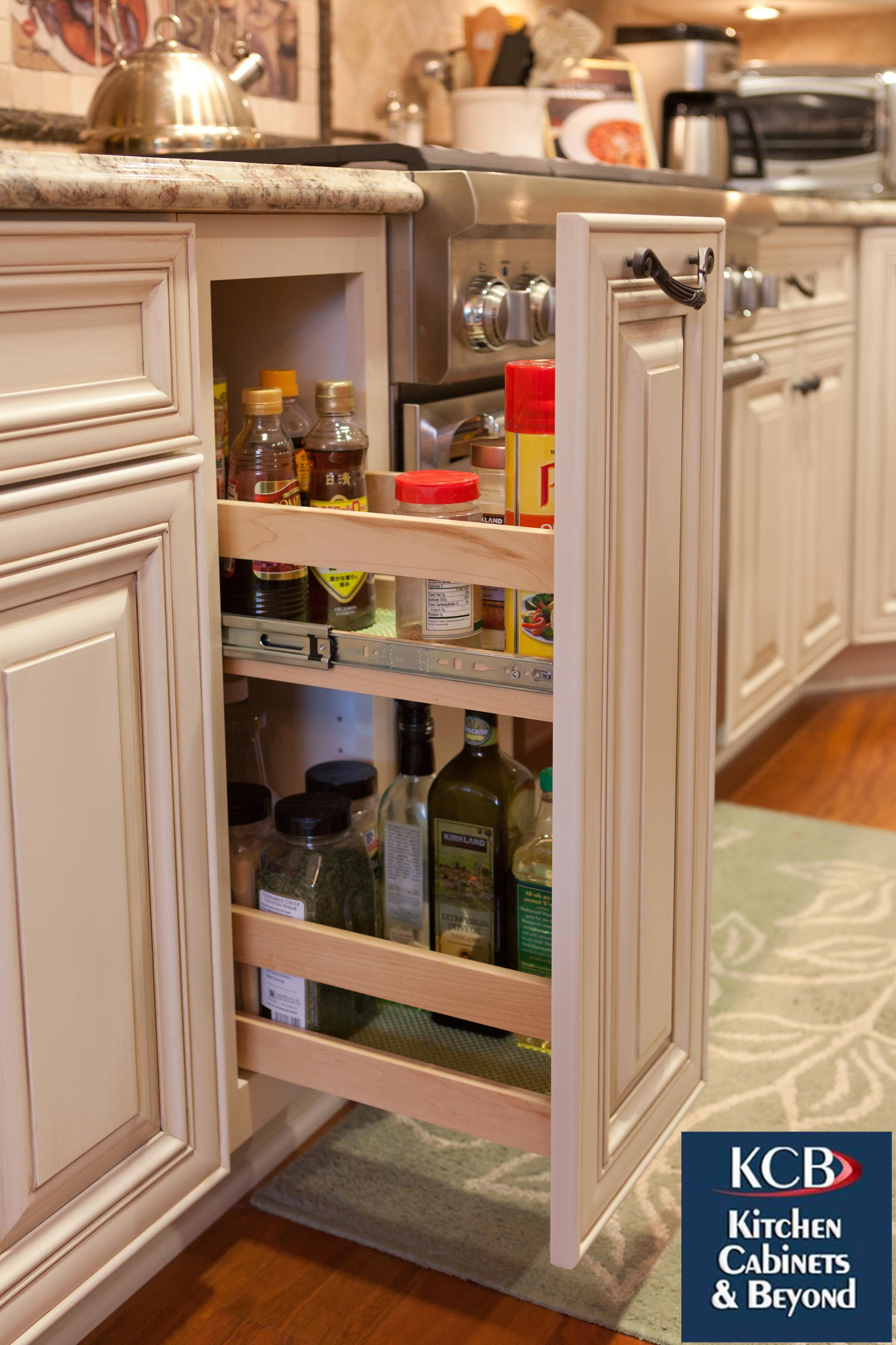Lots Of Hidden Kitchen Cabinet Storage For Organizing Your Cooking Supplies.  A Kitchen Remodel In
