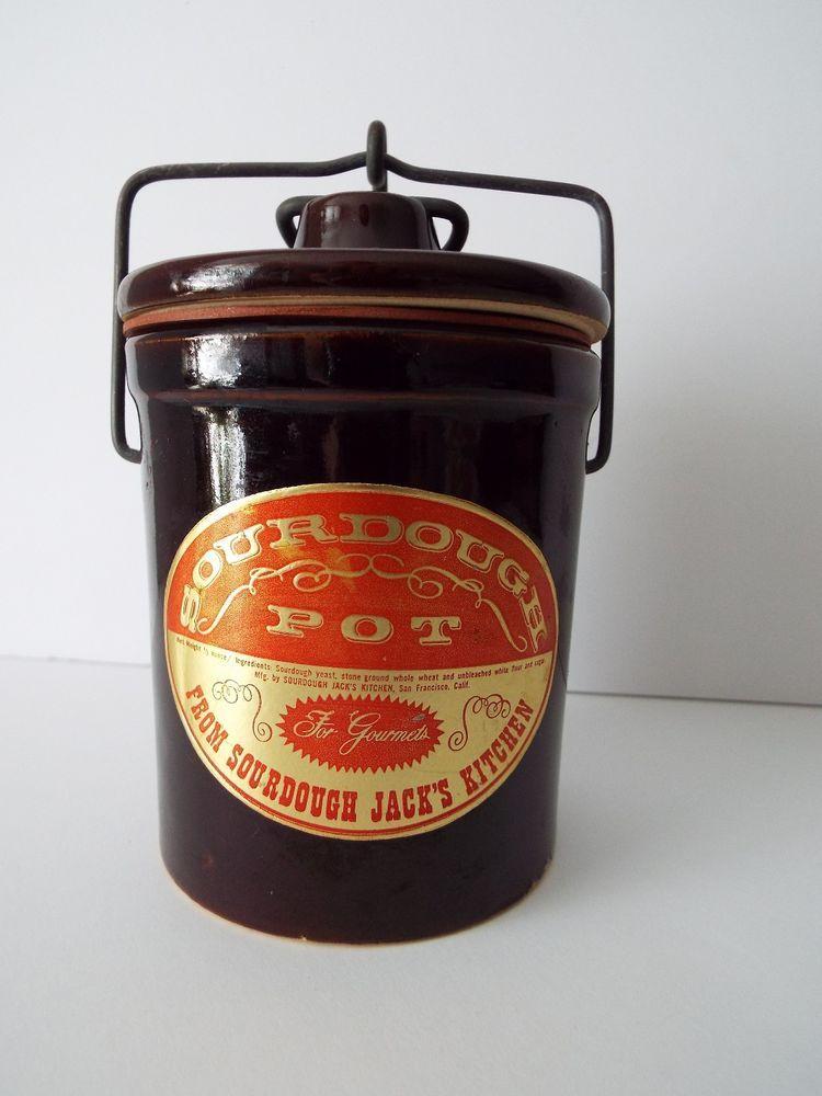 Rare Vintage Sourdough Pot Crock Sourdough Kitchen W
