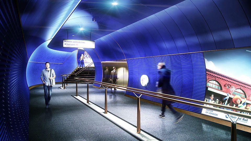future designs lighting. Nulty - London Underground Station Design Idiom Transport System Future Lighting Scheme Tunnel Walkway Blue Designs N