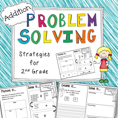 This is a differentiated pack of ADDITION word problems designed to support 2nd graders using addition within 100 to solve one step word problems using the part/part/whole and base ten model drawing strategies.