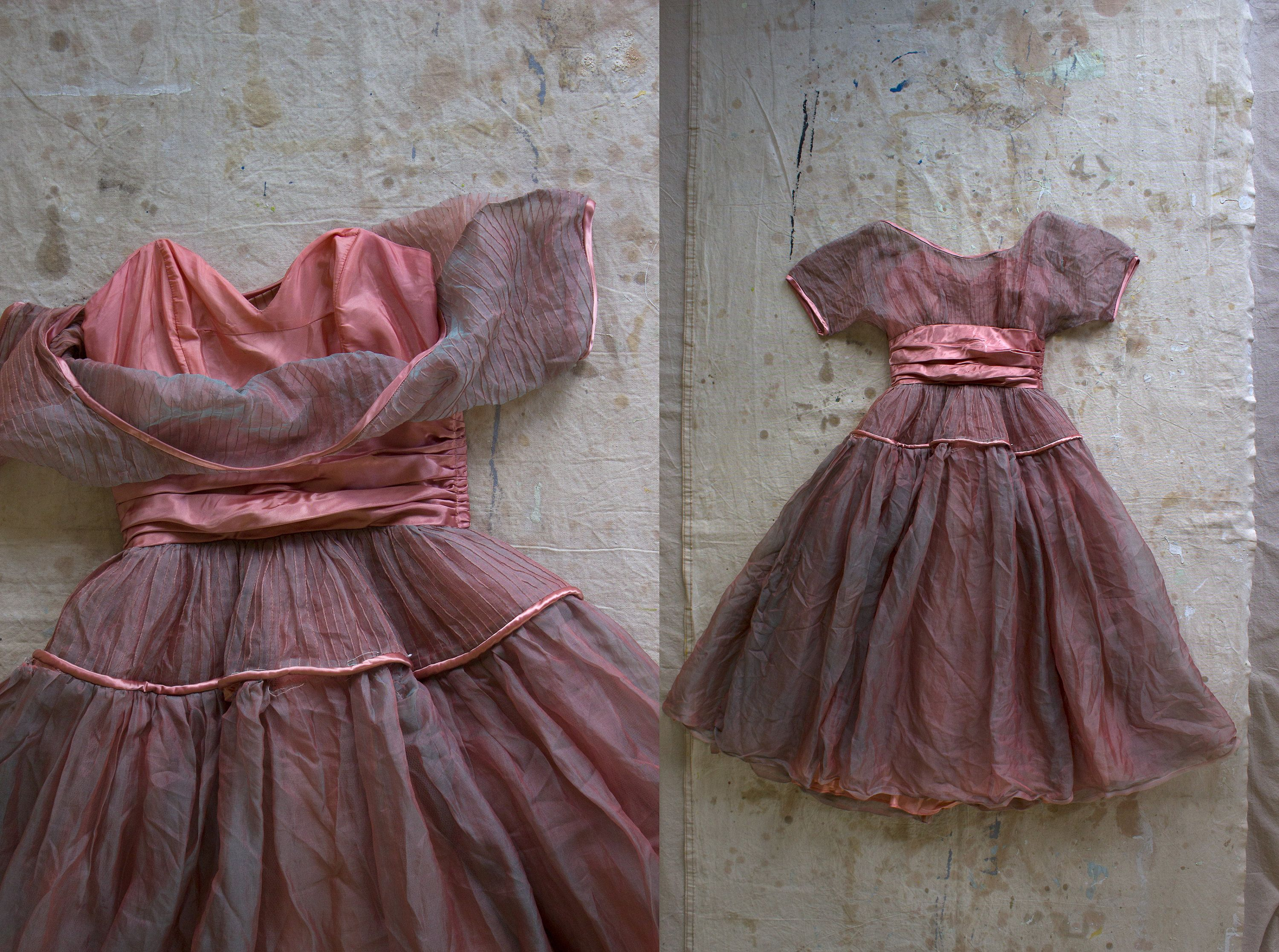 Vintage us layered iridescent sweetheart formal dress tulle
