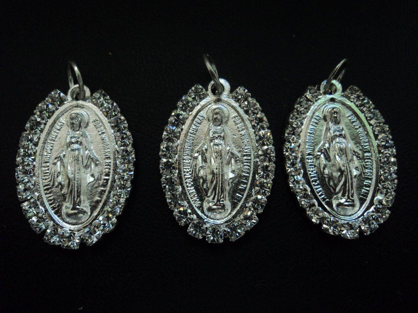 04562a8060cc MVG11 Medalla de la Virgen de Guadalupe plateada fantasia, medidas ...