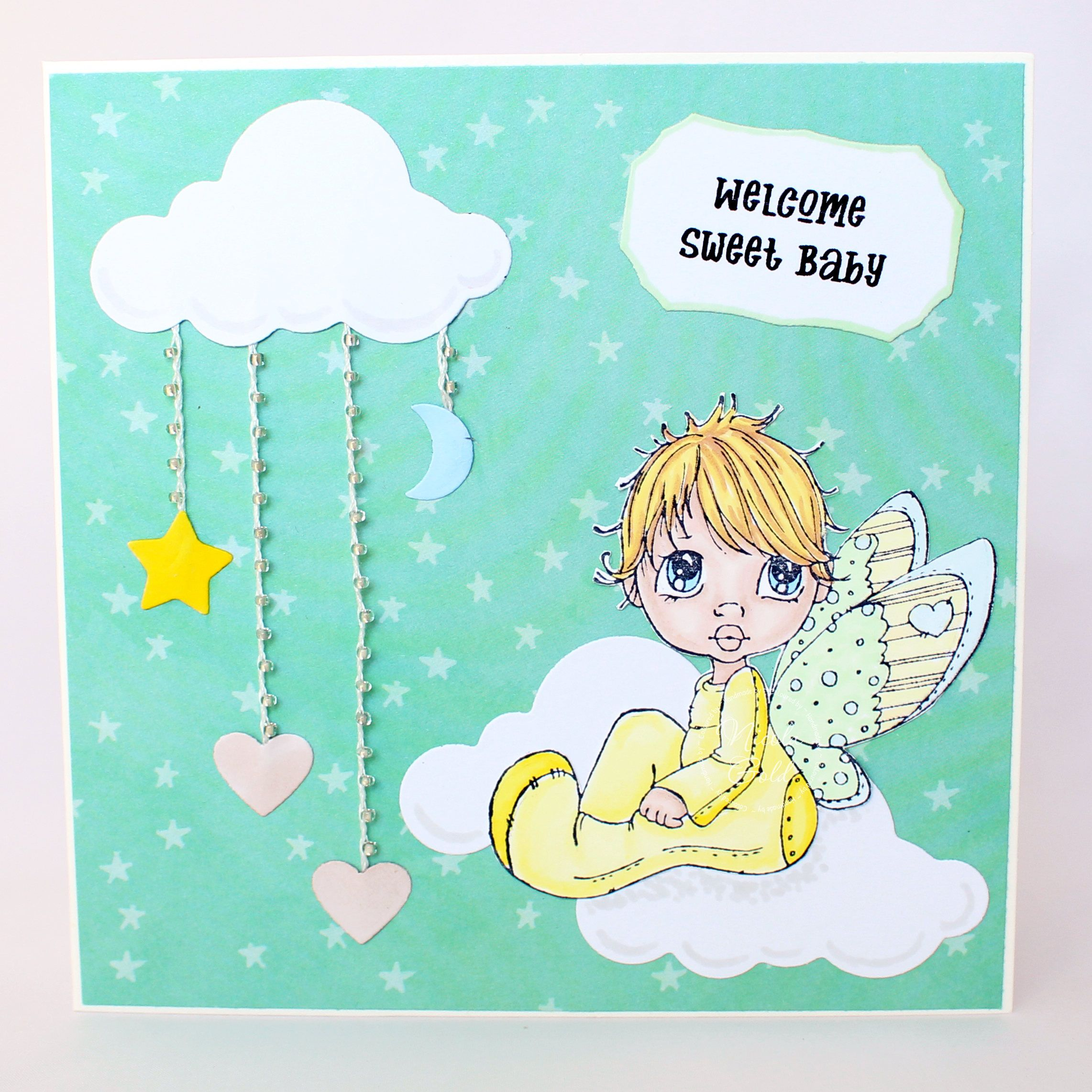 Baby card Sweet Baby card New Baby card