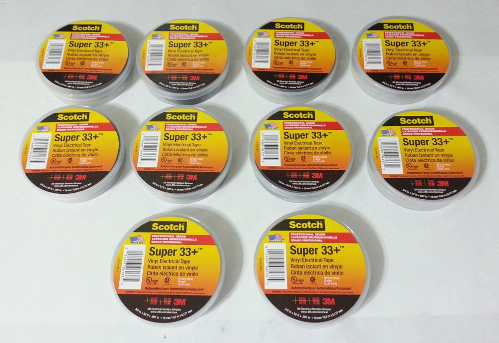 3M Scotch Black 33+ Super Vinyl Electrical Tape 3/4