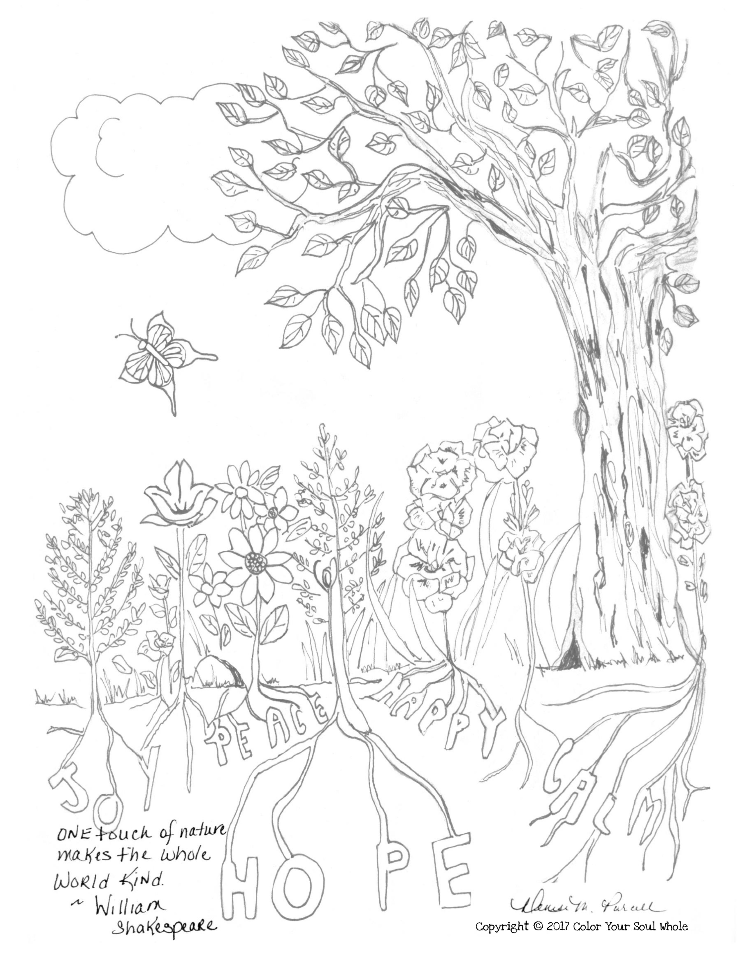 Free Printable Coloring Page From Color Your Soul Whole An Original Illustration By Encha Free Printable Coloring Pages Grief Journal Printable Coloring Pages