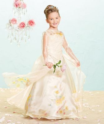 the ultimate collection cinderella® wedding gown -exclusively ours - As a young girl, Cinderella picnicked with her mother who wore a sweet yellow dress decorated with flowers. #princess #halloween #girlscostumes