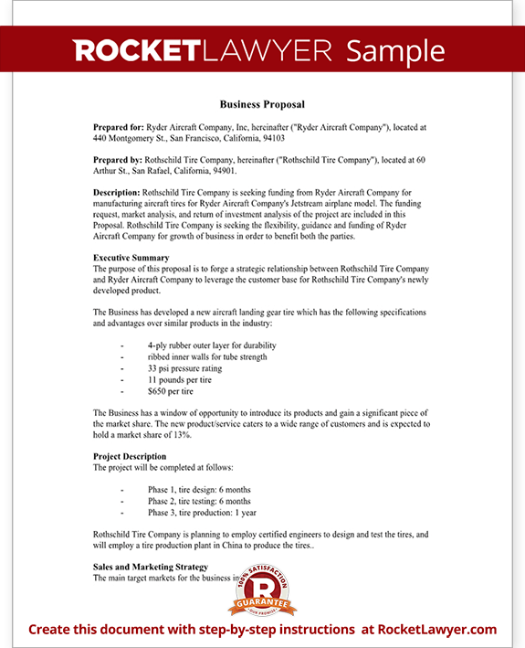 Business Proposal Templates Examples – Commercial Proposal Format