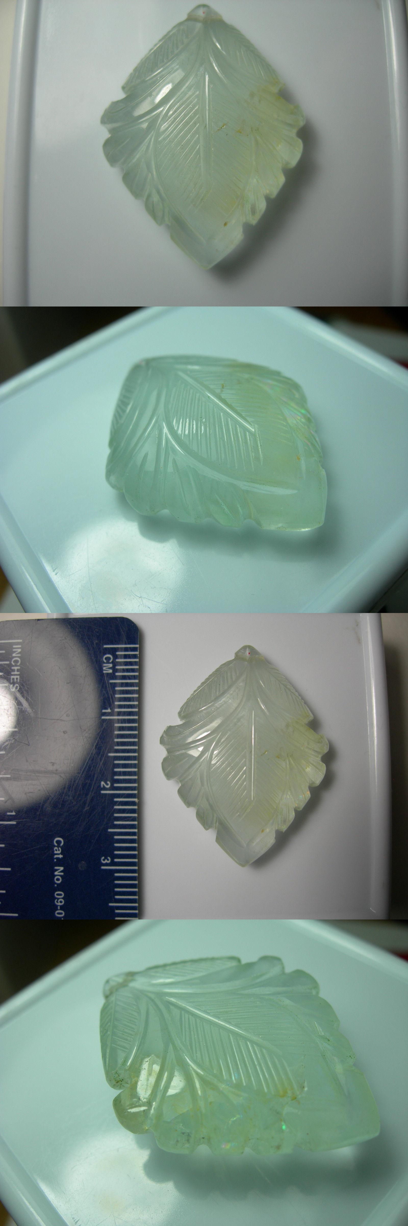 Aquamarine ct carved aquamarine gem natural unheated
