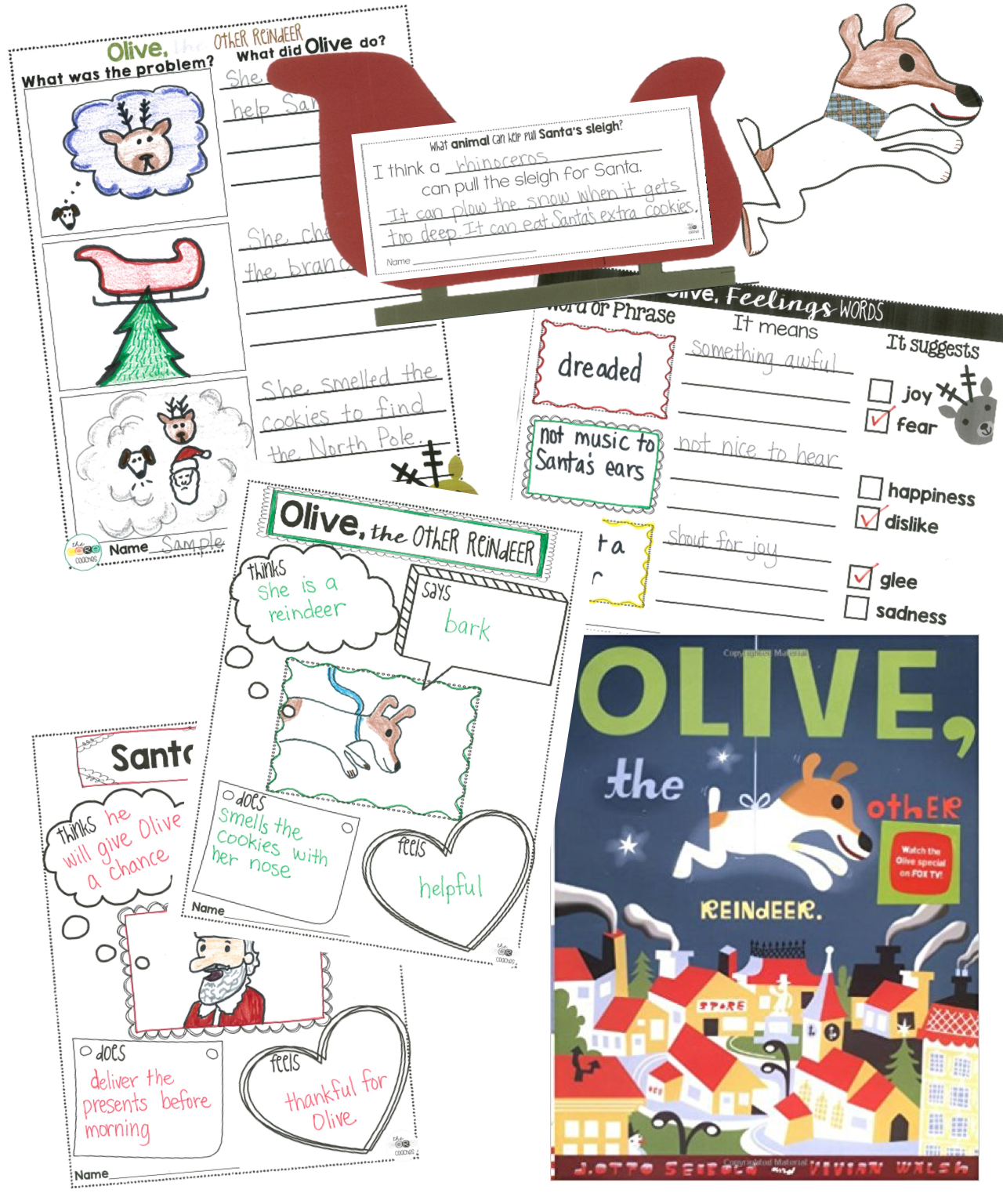Olive The Other Reindeer Close Reading Activities Text Dependent Questionsfirst