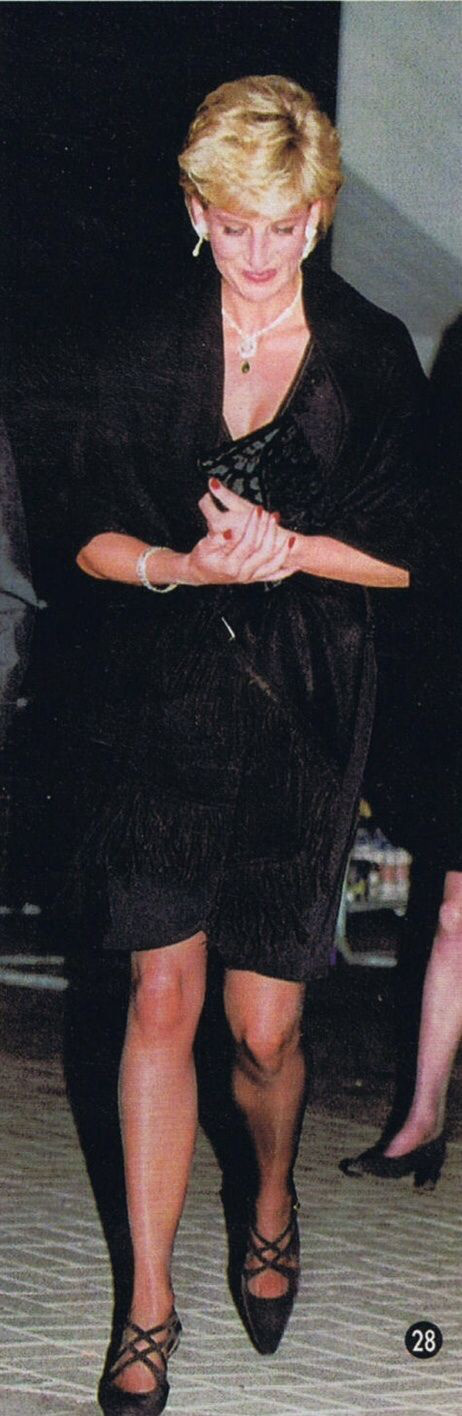 12 April 1996: PRINCESS DIANA AND HELENE MERCIER ARNAULT AT FESTIVAL HALL LONDON SOUTHBANK CENTRE