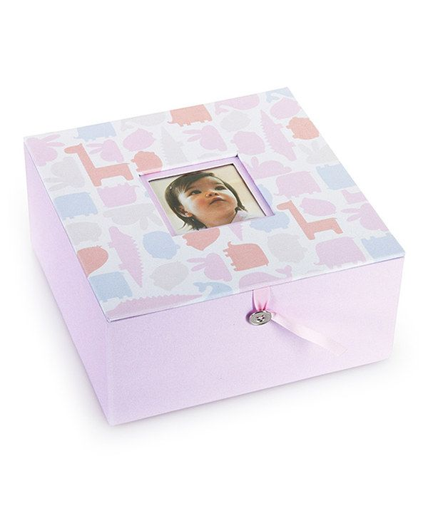 Take a look at this Pearhead Pink Animal Keepsake Box on zulily today!
