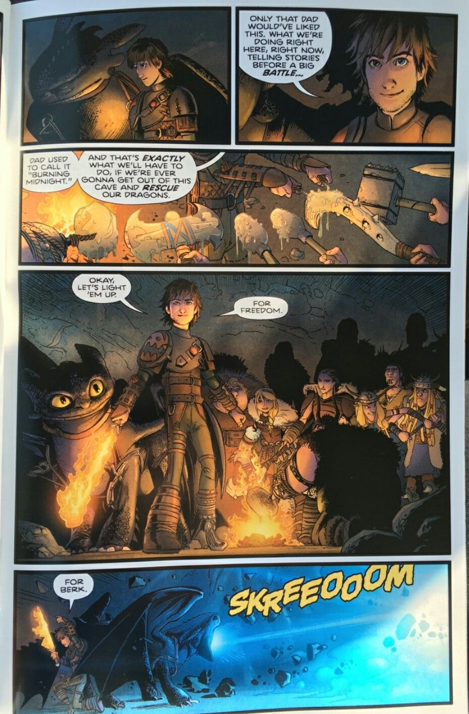 HTTYD OFFICIAL BURNING MIDNIGHT COMIC Part 8