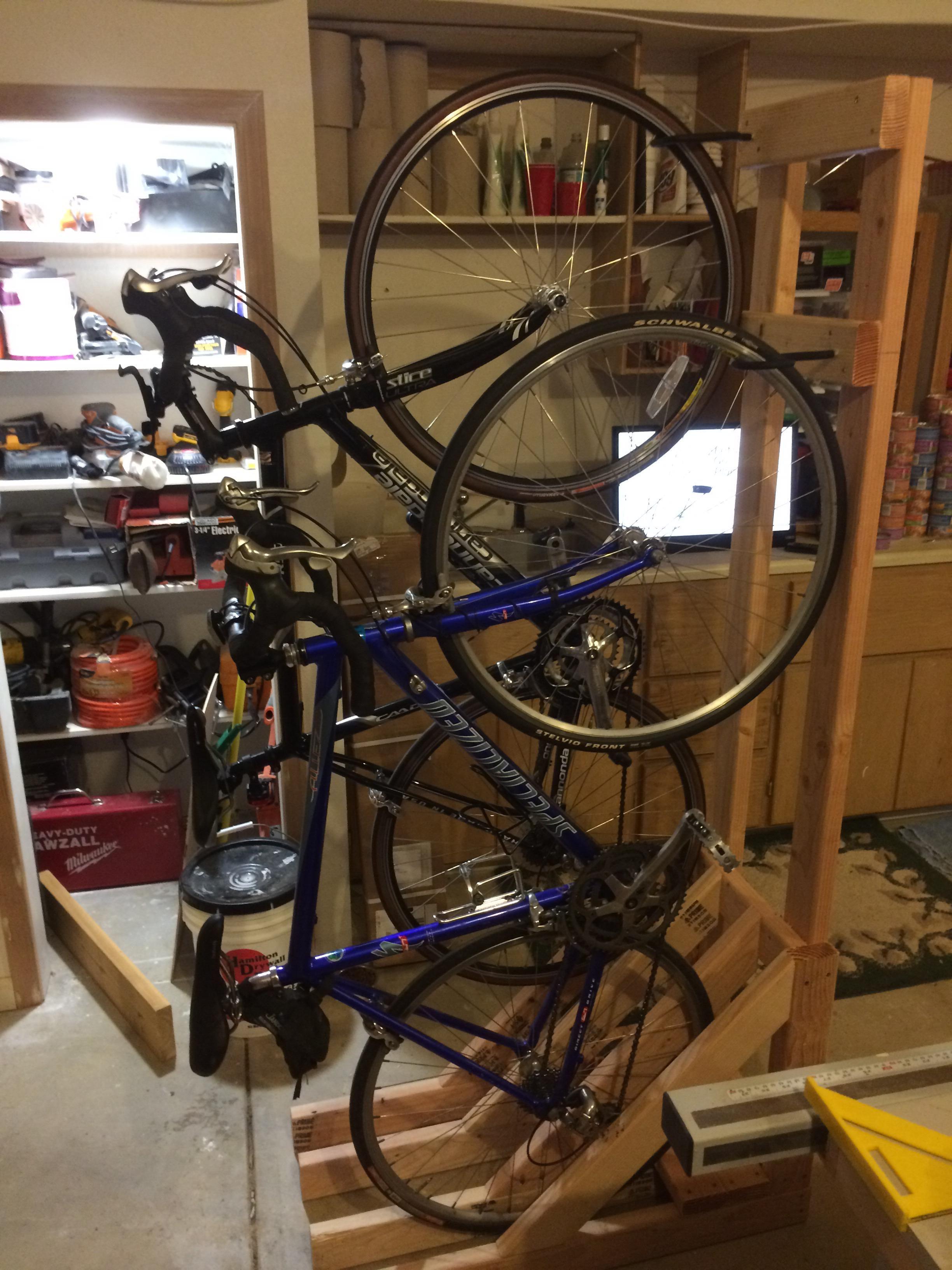 outdoor bike storage diy bike rack