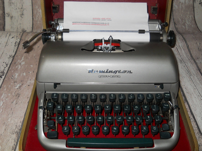 Antique Remington Quiet Riter Typewriter. Manual ...