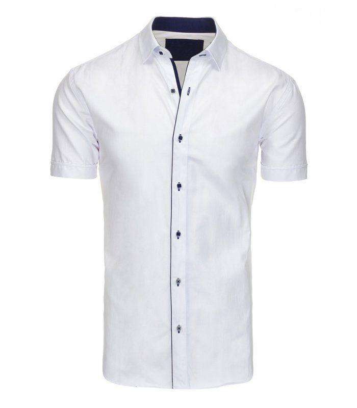 eec98cfbd128 Pánska biela elegantná košela s krátkym rukávom