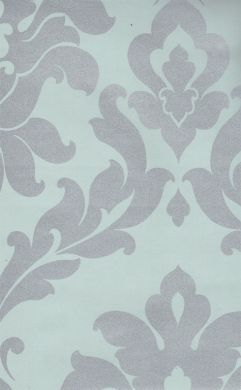 Damask Metallic Silver Wallpaper