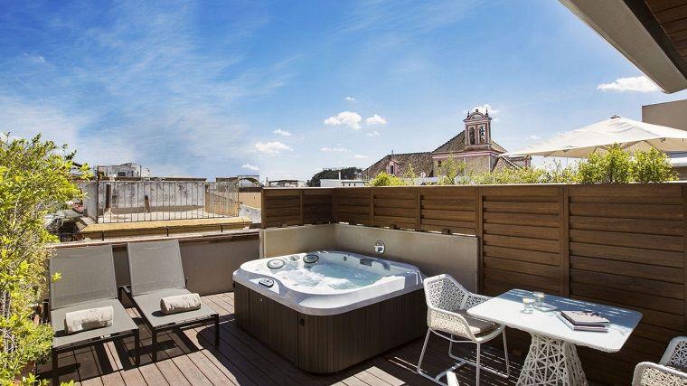 terrazzi-arredati-set.moderno-jacuzzi | Casas modernas | Pinterest