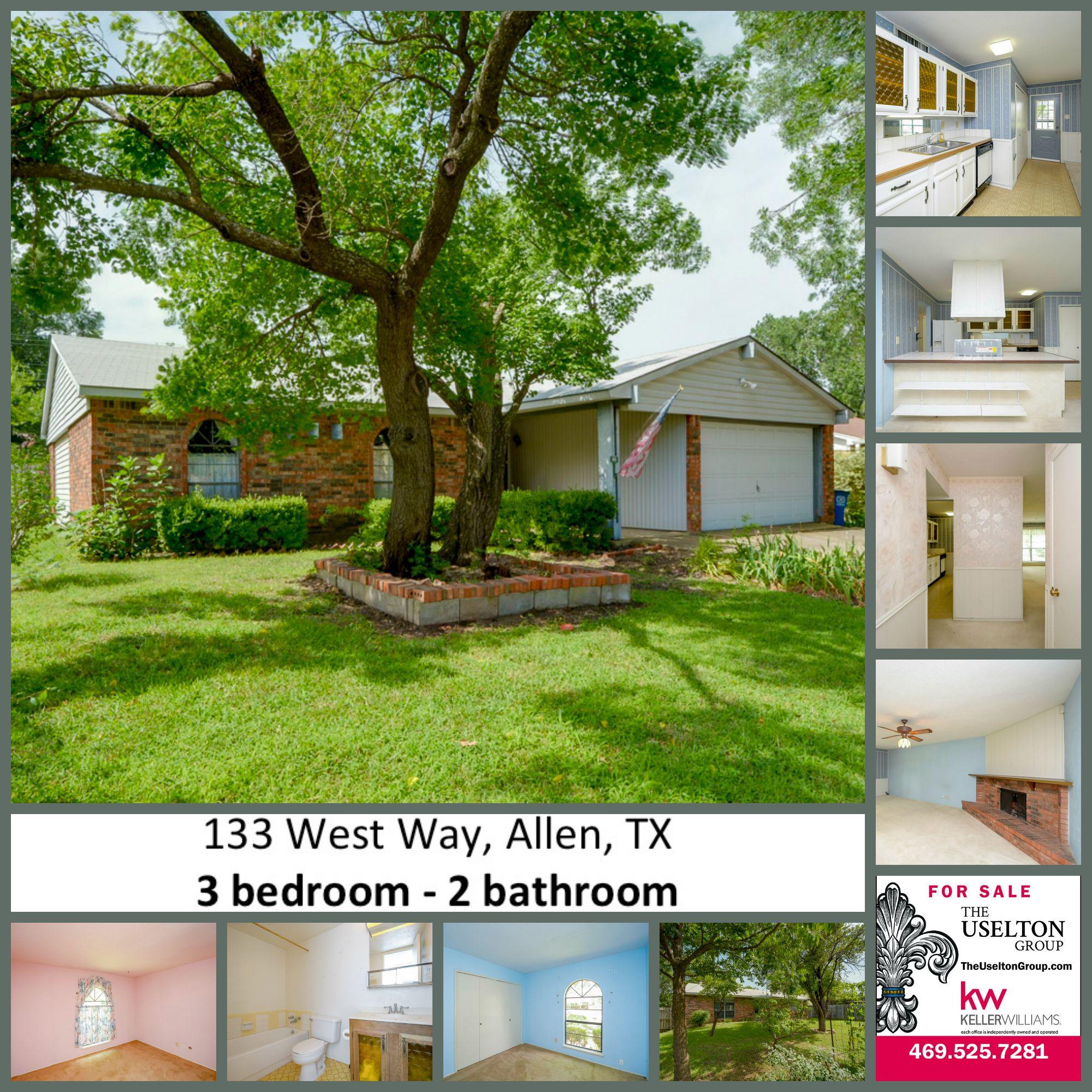 Listing on West Way in Allen, TX Charming 3 bed 2 bath