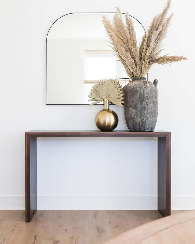 Solid Wood Console Table Wood Console Table Or Sofa Table Etsy Wood Console Table Narrow Console Table Wood Console