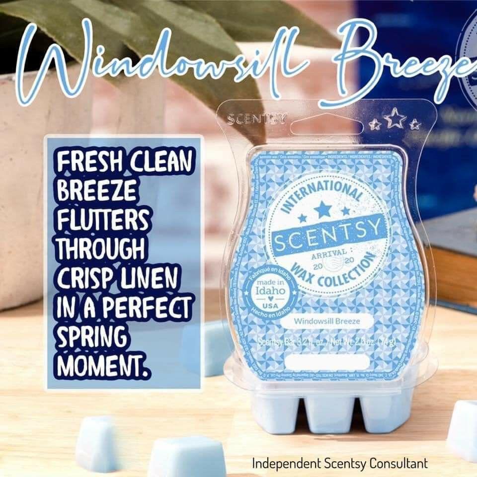 #scentsy #newscents #fresh #windowsillbreeze #crisplinen #freshcleanbreeze