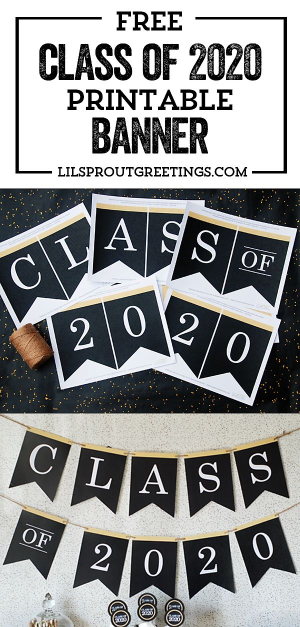 Free Class of 2020 Graduation Printable Banner | Lil' Sprout Greetings