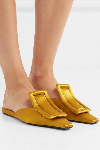 Satin Slippers - Mustard Marni NHbrxkt5Gh