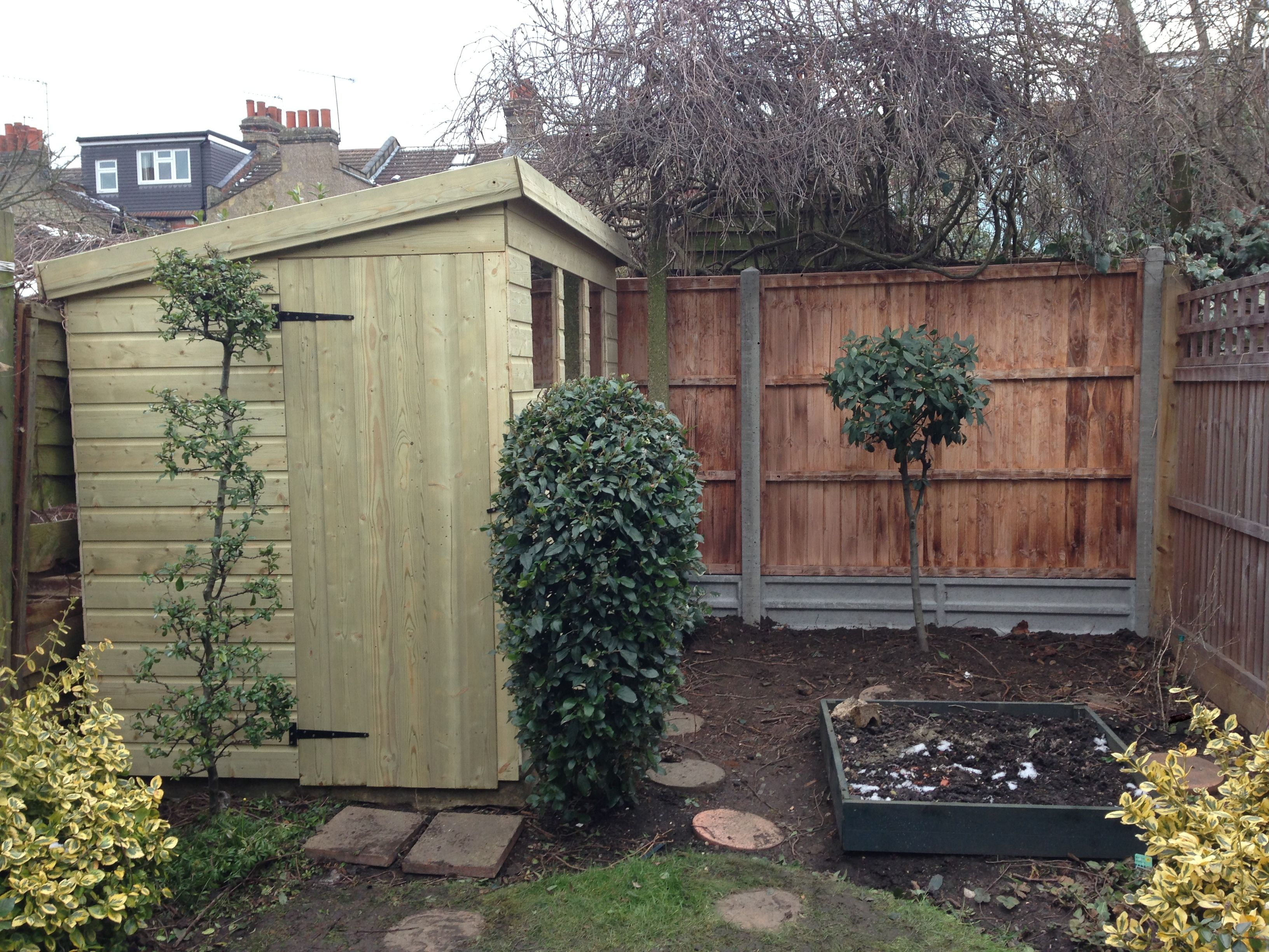 Shed And Fence Installation In Central London Uk Garden Design