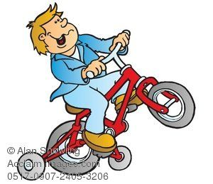 Life is like riding a bicycle.  You don't fall off  unless you stop peddling.    - Claude D. Pepper