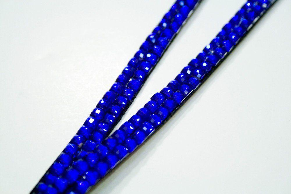 Royal Blue Rhinestone Lanyard