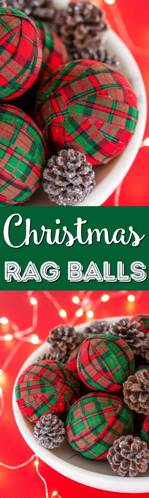 These DIY Holiday Rag Balls are a simple way to add a bit of holiday charm to your home. This craft project is super easy to make with just 4 materials! Makes great ornaments and party favors too! via @sugarandsoulco