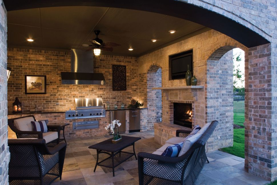 kitchen:Kitchen Outdoor With Wall Rustic Stone Rescent Downlight ...