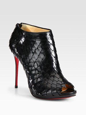Christian Louboutin - Scaled Leather Ankle Boots #http://www.shoeniverse.info/