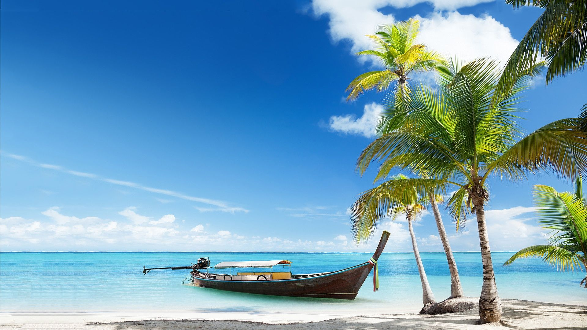 Beach Quotes Wallpaper: ... Above Boat Tropical Beach - Funny