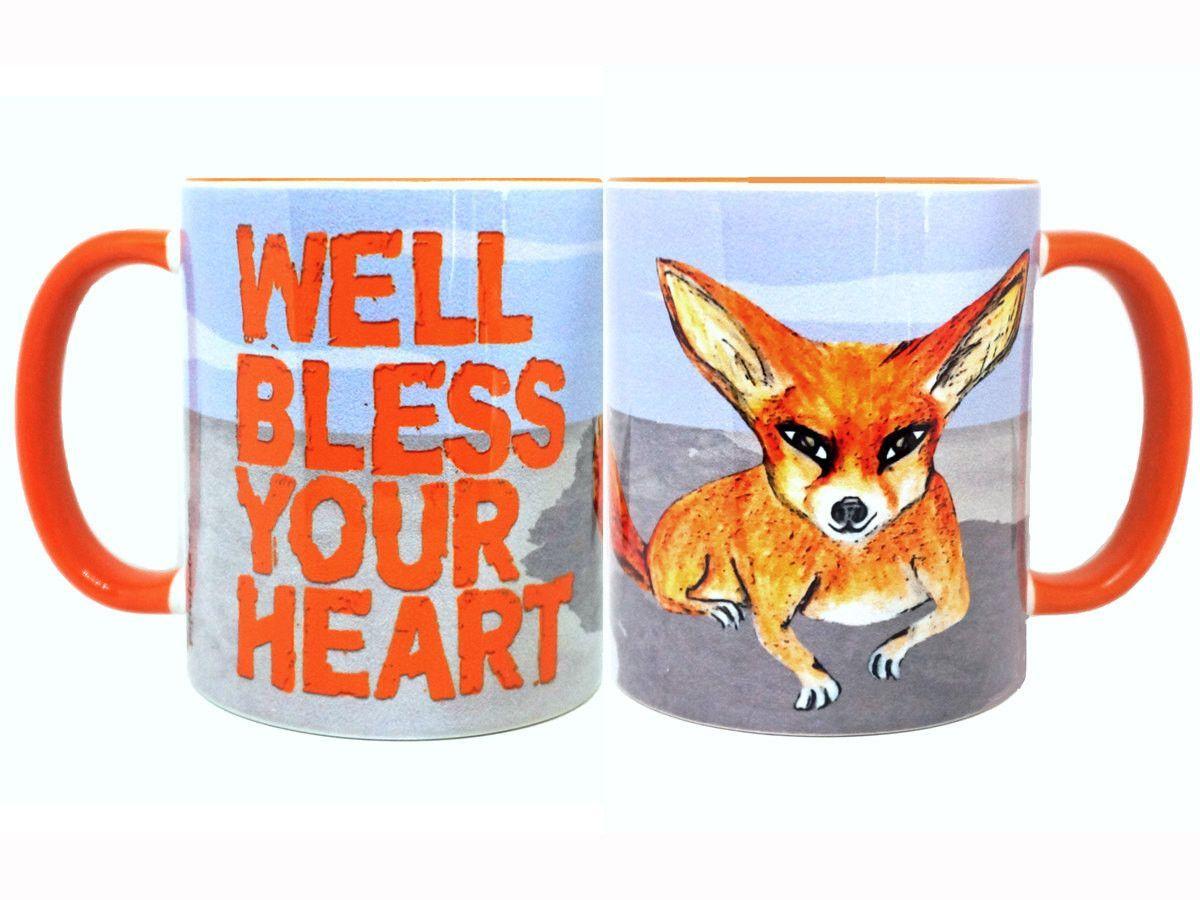 Bless Your Heart Fennec Fox Orange Mug Cup
