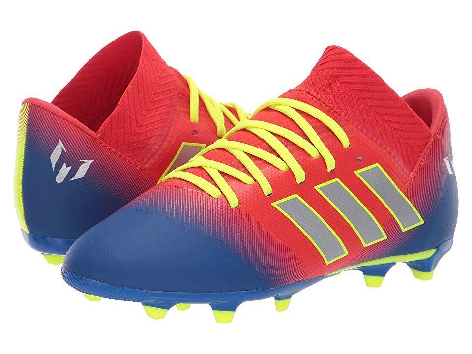 5d797b69cbd8 adidas Kids Nemeziz Messi 18.3 FG Soccer (Little Kid Big Kid) Kids Shoes  Active Red Silver Blue