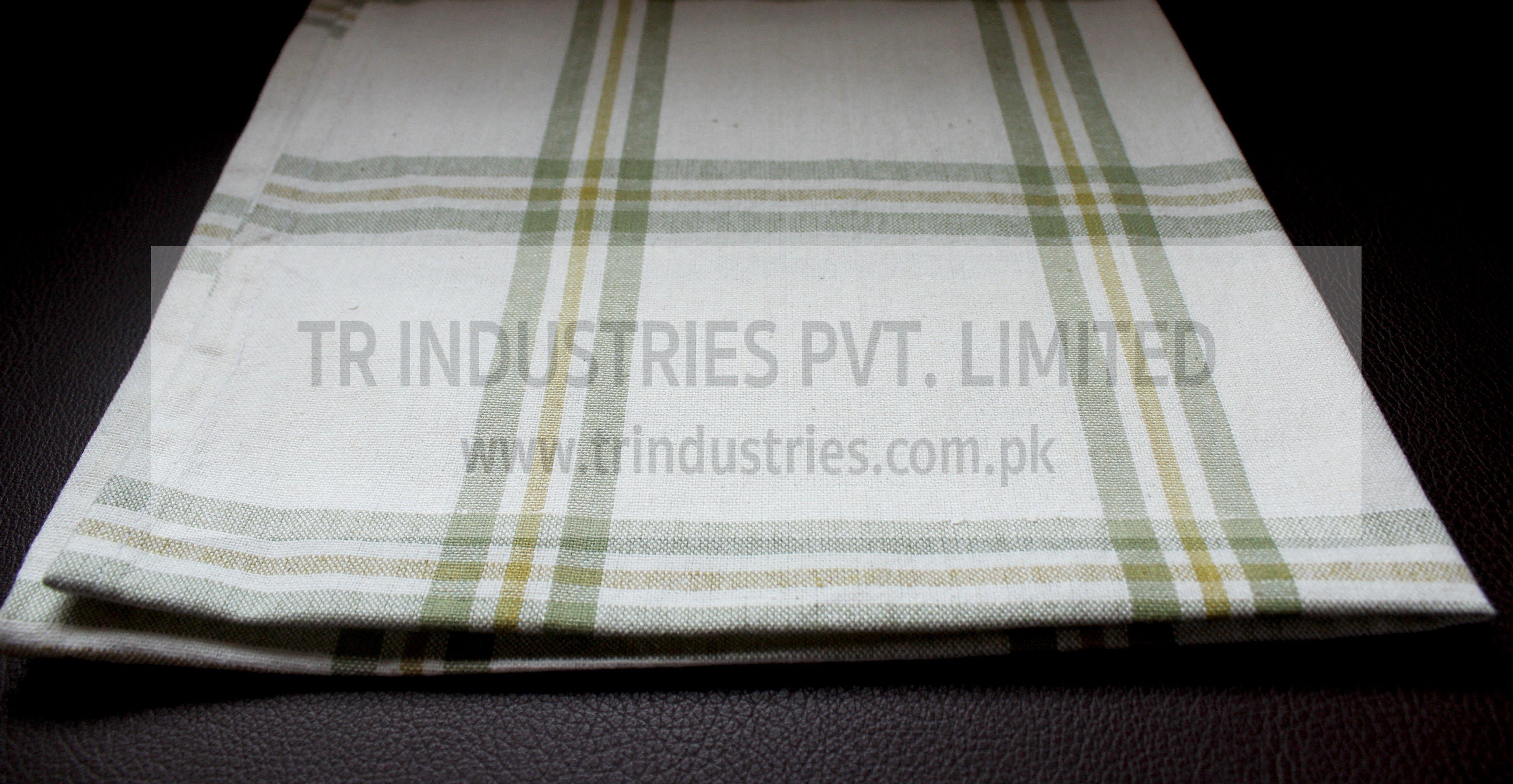 100% Cotton Yarn Dyed Kitchen Towel White Lime Green Check ...
