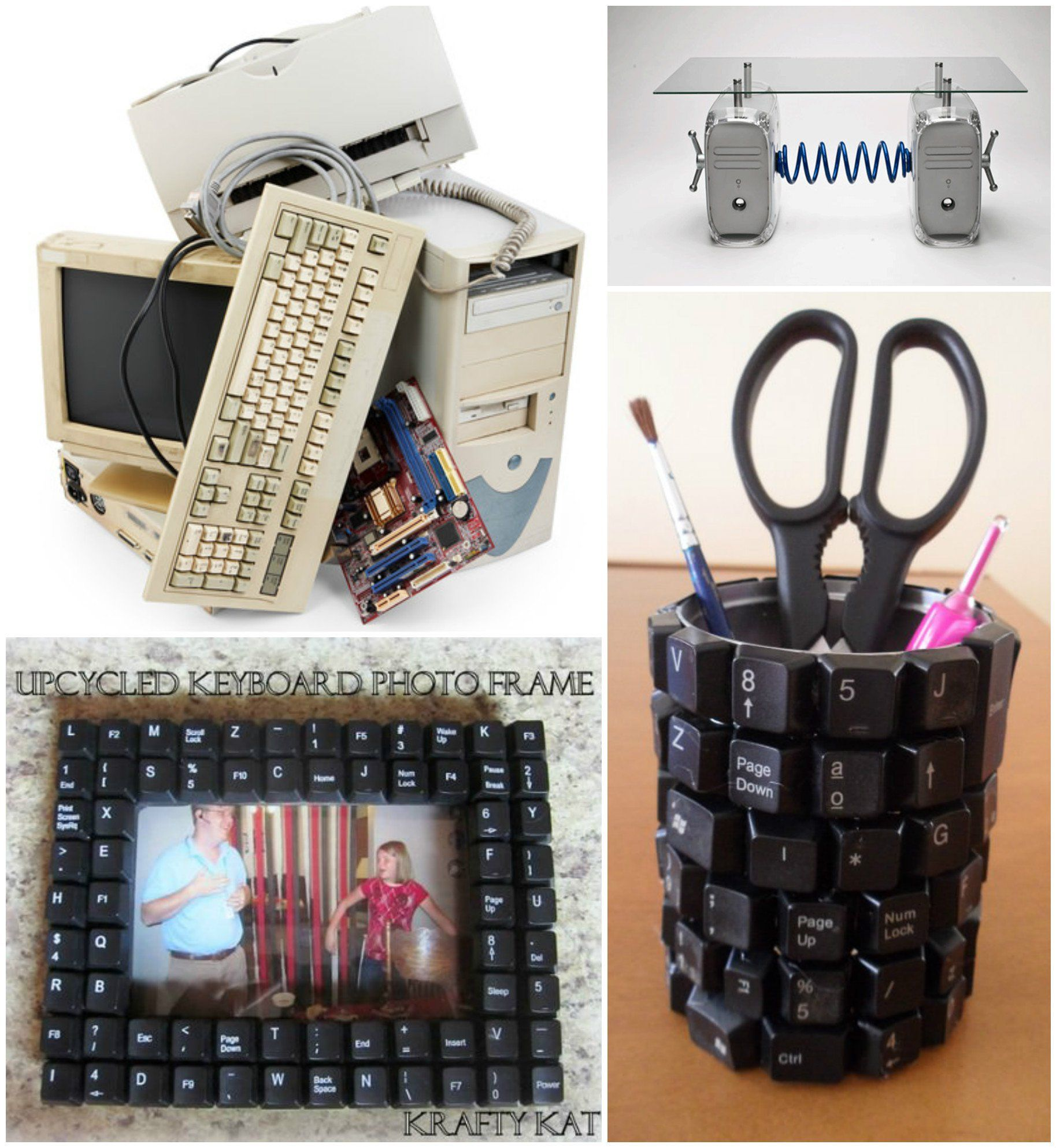 Easy Ideas To Recycled Reuse Old Computer Parts Recyclart Old Computers Electronics Projects Diy Diy Gadgets