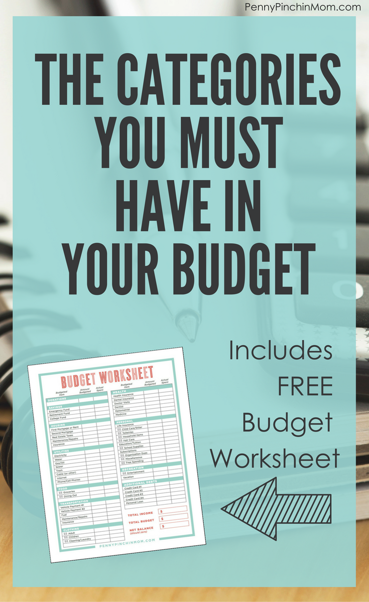 Does Your Budget Have All Of These Categories?