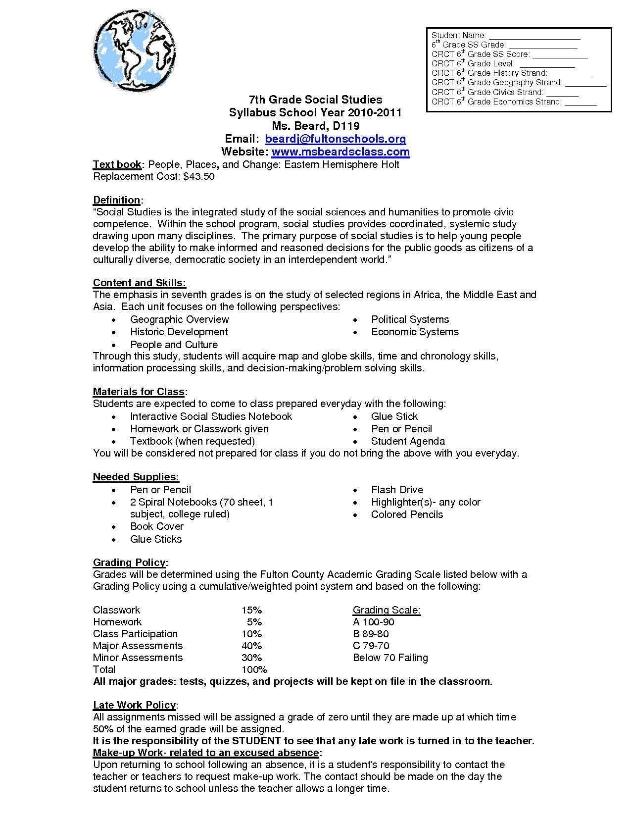 9th Grade Social Stu S Worksheets Best Social Stu S For