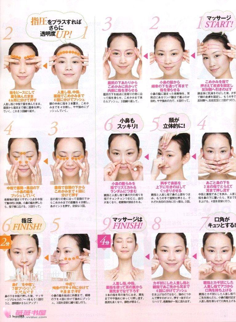Japanese facial techniques